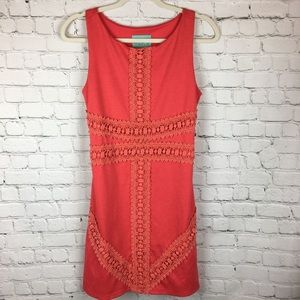 Judith March coral dress